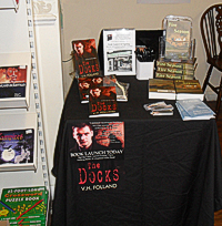 Signing table and books