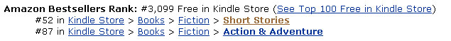 Amazon UK Rank: #52 Short Story #88 Action Adventure